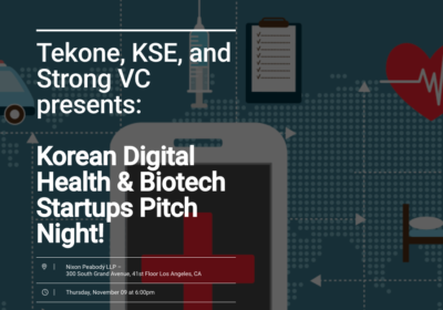 Korean Digital Health & Biotech Startups Pitch Night!