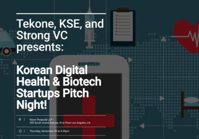 Korean Digital Health & Biotech Startups Pitch Night!