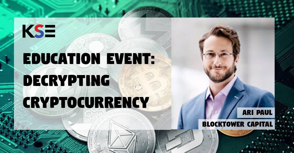 Korean Startups & Entrepreneurs (KSE) - KSE Education Event: Decrypting Cryptocurrency
