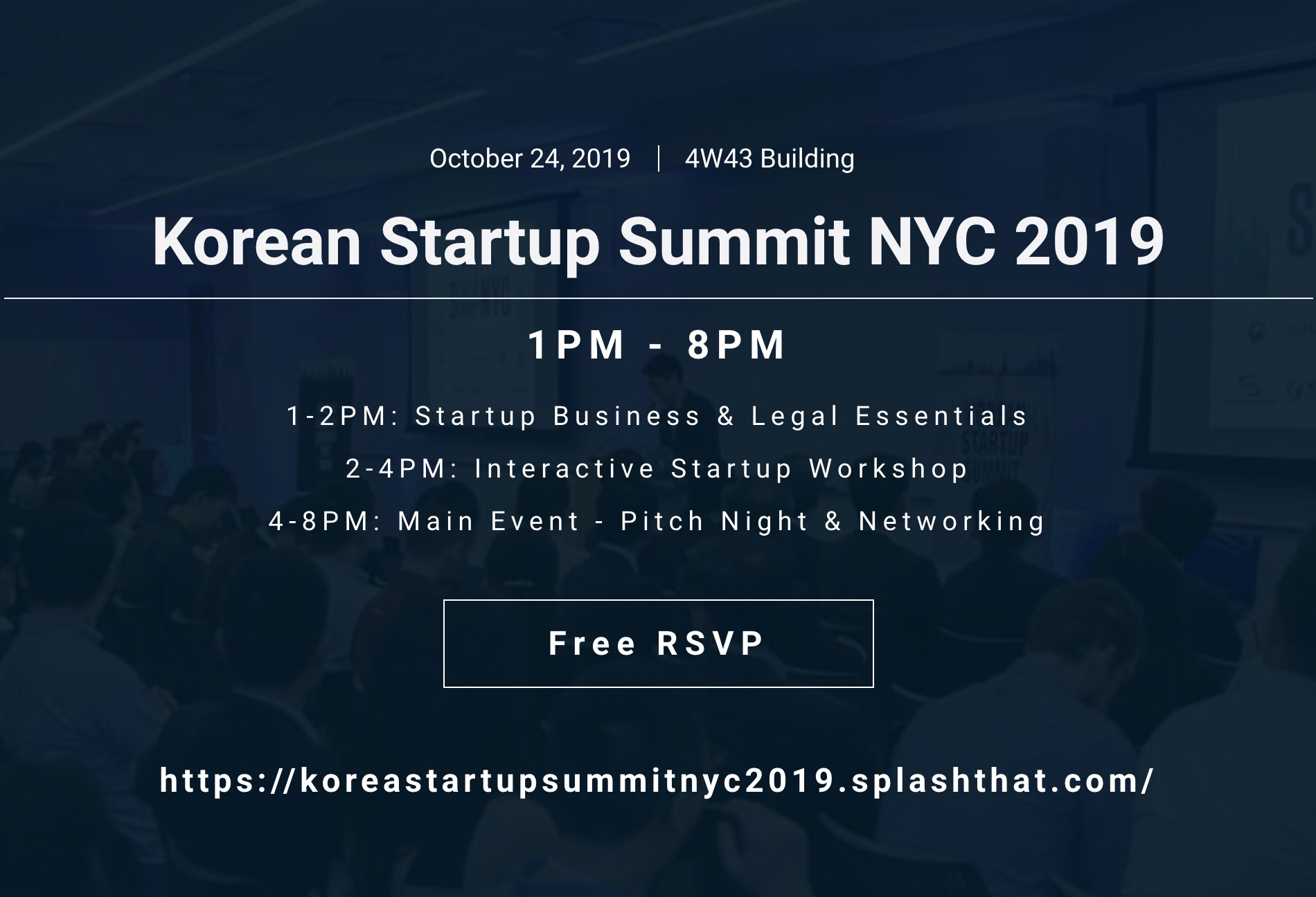 Korean Startups & Entrepreneurs (KSE) - Korean Startup Summit NYC 2019
