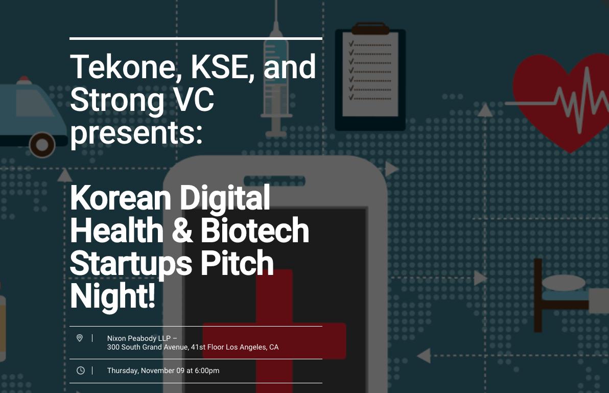 2017 Korean Digital Health & Biotech Startups Pitch Night LA